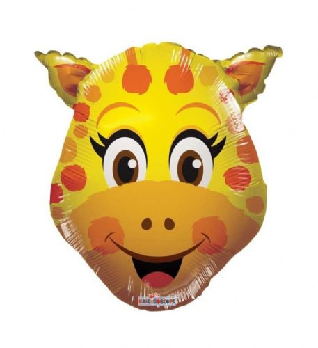 "14"" Giraffe Balloon - Uninflated - Requires Heat Seal"